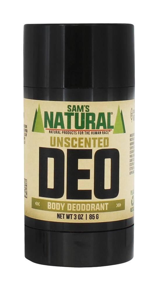 Sam's Naturals - Men's Deo Body Deodorant Stick Bay - 3 oz. Sam' s Naturals