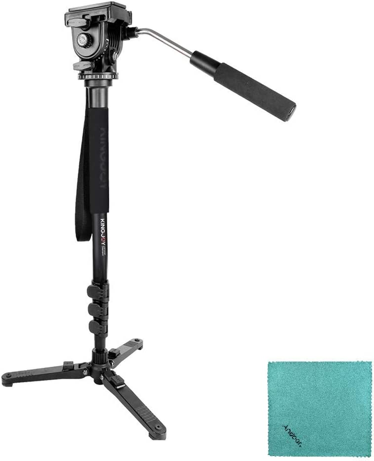 11 Load Capacity 5kg KINGJOY MP1008F Camera Monopod Compatible with Canon Sony Nikon DSLR Cameras Max