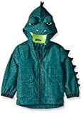 Carter's Little Boys' Critter Rainslicker Midweight Rain Jacket, Fierce Dinosaur Green, 5/6