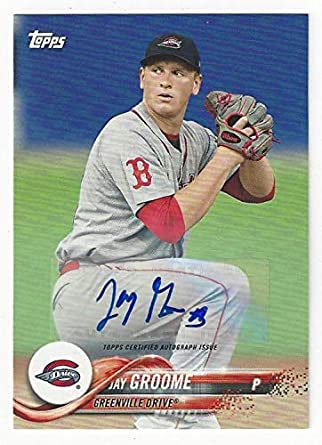 Amazoncom Jay Groome Autographed Collectible Baseball Card 2018