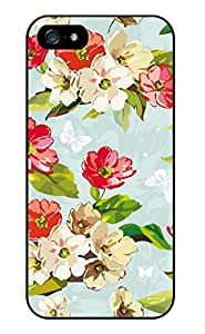 MI.YOO Beautiful Watercolor Of Flowers Hard Plastic Back Case Cover Phone Protective Case for iPhone 4 4S