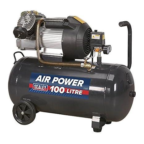 Sealey SAC10030VE Disco directo de compresor V-Twin, 3 hp, 100 litros: Amazon.es: Bricolaje y herramientas
