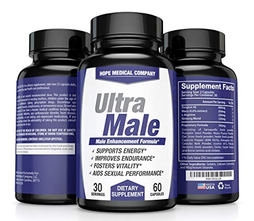 Best Male Enhancing Pills For Men 45 Up - #1 Testosterone Booster for Men Increase Size, Drive, Stamina & Endurance - L Arginine, Tongkat, Maca, Ginseng Supplement - Boost Energy, Muscle & Performance