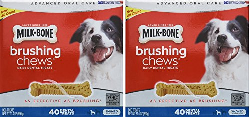 Milk Bone Brushing Chews  40 Dental Treats 31.4oz by Milk-Bo