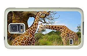 Hipster sparkle Samsung Galaxy S5 Case giraffes PC White for Samsung S5