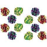 Petsvv 24 Pack Mylar Crinkle Balls Kitten Cat Toys