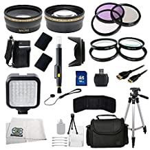 Outdoor Ultimate Accessory Package for Nikon D3100, D3200, D5100, D5200, D5300 DSLR Cameras (Which Have Nikon 55-300mm or 50mm f/1.8G Lenses)