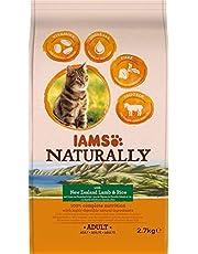 Iams 11224/3592 Naturally kattenlam (droogvoer voor volwassenen katten met lam uit Nieuw-Zeeland en rijst), 2700 g