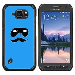 Eason Shop / Premium SLIM PC / Aliminium Casa Carcasa Funda Case Bandera Cover - Máscara azul de la historieta minimalista - For Samsung Galaxy S6 Active G890A