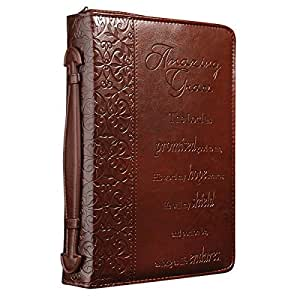 """""""Amazing Grace"""" Embossed Bible / Book Cover (Large"""