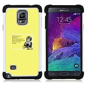 BullDog Case - FOR/Samsung Galaxy Note 4 SM-N910 N910 / - / SKINNY HEALTHY DAYDREAM DIET DREAMING FOOD /- H??brido Heavy Duty caja del tel??fono protector din??mico - silicona suave