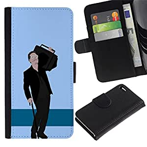 All Phone Most Case / Oferta Especial Cáscara Funda de cuero Monedero Cubierta de proteccion Caso / Wallet Case for Apple Iphone 4 / 4S // Hipster Dude