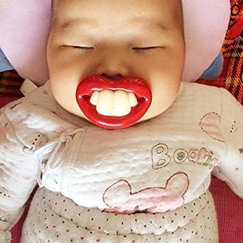 Amazon.com: Divertido Dientes De Bebé Chupete de silicona ...