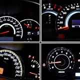 YITAMOTOR 10 Pack Blue T5 74 LED Wedge Dash