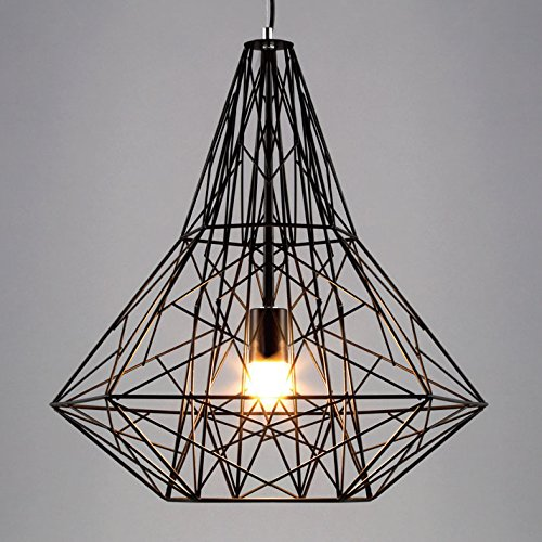 baycheer vintage industrial style large cage pendant light with reel