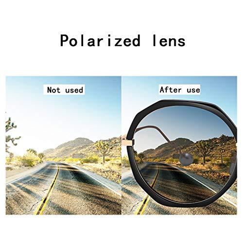 Les Types Visage Lunettes Convient Cadeaux E Zhyxj sunglasses Cadre À De Grand Polarisée Soleil Protection Surdimensionnées Tous Femme Uv 6awZwq5