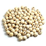BronaGrand 100pcs Natural Color Round Ball Wood Spacer Beads Jewelry Findings Charms (16mm)