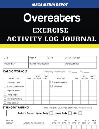 Overeaters Exercise Activity Log Journal ebook