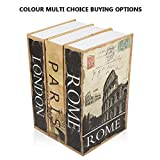 "KYODOLED Diversion Book Safe with Combination Lock, Safe Secret Hidden Metal Lock Box,Money Hiding Box,Collection Box,9.5"" x 6.2"" x 2 .2"",London"