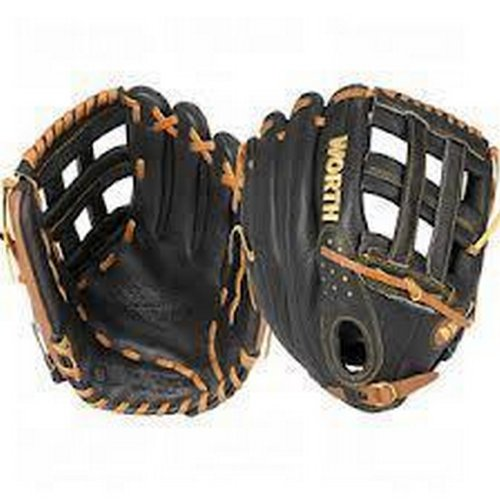 Worth Youth Prodigy Outfielders Baseball Glove P125 H-Web 12 1/2 Inch Left by Worth