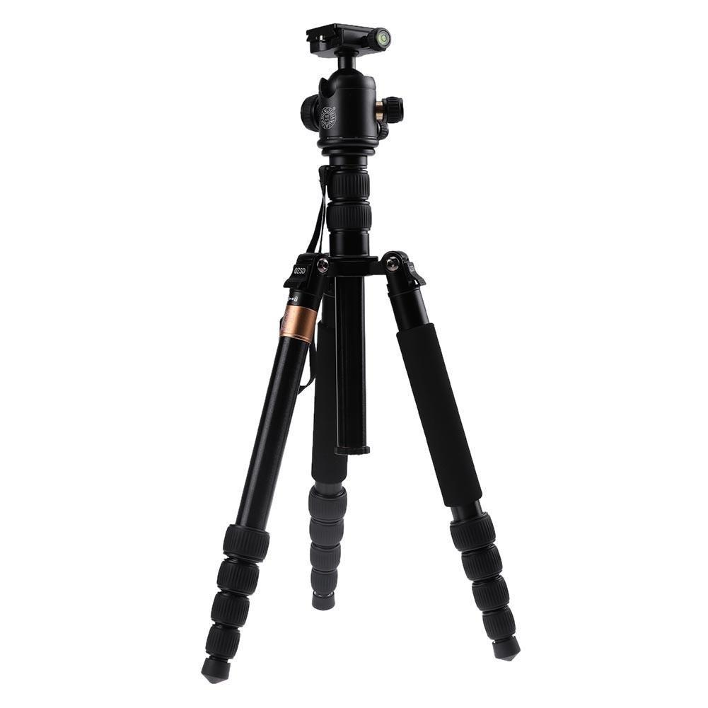 alloet q668 152 cmポータブルアルミ合金三脚ボールヘッド一脚カメラ用   B077TX3ZJP