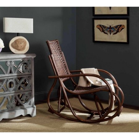 Safavieh Bali Rattan Rocking Chair, Durable frame for long-lasting longevity