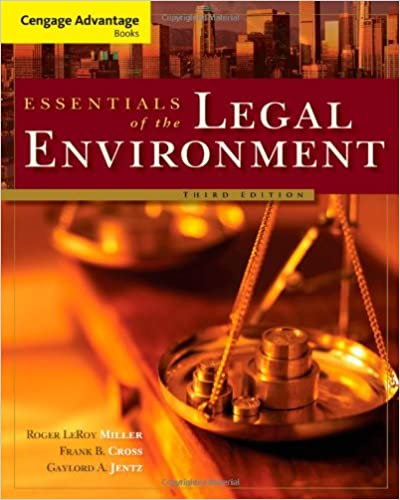 Legal environment of business a managerial approach theory to practic….