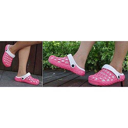 Féminin Chaussures Pantoufles Style Casual Rouge Plage Eva Amateurs De Pour Les De Couple Jardin Et Mode D'été Eastlion Demi 2 De 4gBqx