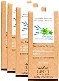 Elements Truffles Peppermint Bar with Lavender Infusion - Dairy Free Chocolate Bar - Gluten Free, Non-GMO, Raw & Organic Chocolate Bar - Ayurveda Inspired Healthy Chocolate Bar - Four Pack