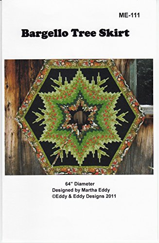 Bargello Tree Skirt Christmas Holiday Martha Eddy Quilt Pattern ME-111