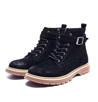 SHANGWU Botines Martin Boots para Hombre nuevos Zapatos Inglaterra para Hombre Botas de Trabajo Casual Botines Chelsea Botines para Hombre (Color : Negro): ...