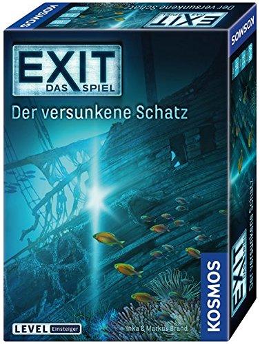 Kosmos Games 694050 - Gioco da tavolo EXIT Game: Sunken Treasure Inka Brand Markus Brand Lernen Spiele für Drinnen