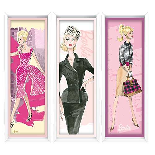 Barbie Large Faux Framed Art Wall Decal (Barbie Mural)