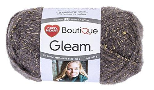 Weight Knit Gold Medium (RED HEART Gleam Yarn, Smoke)