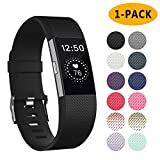Poshei for Fitbit Charge 2 Bands, Classic Adjustable Replacement Sport Strap Bands for Fitbit Charge 2 Smartwatch Fitness Wristband