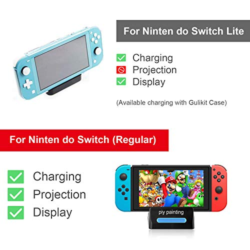 Piy Painting Pocket TV Dock for Nintendo Switch, PD Protocol Avoids Brick with HDMI and USB 3.0 Port