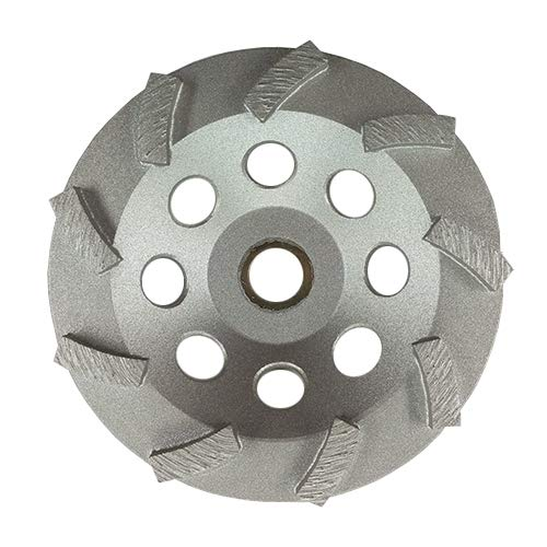 "7"" Standard Concrete Turbo Diamond Grinding Cup Wheel for Angle Grinder 24 Segs"