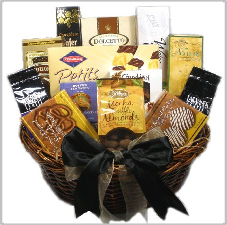 Delight Expressions™ with Deepest Sympathy Gourmet Food Gift Basket - Gifts, Flowers & Food