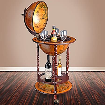 Phenomenal Loscato Antique World Bar Globe Liquor Cabinet Stand Drink Home Interior And Landscaping Eliaenasavecom