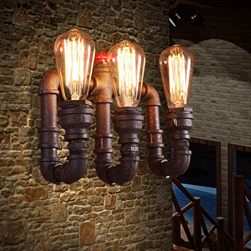 MATCHANT Industrial 3 Head Rustic Water Pipe Wall Light Fixture for loft Apartment Bar by MATCHANT (Image #1)