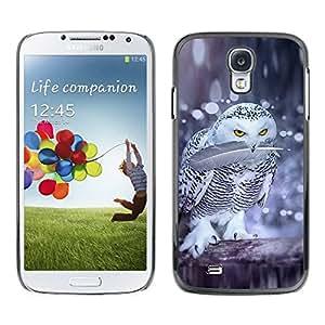TopCaseStore / la caja del caucho duro de la cubierta de protección de la piel - Birds Nature Winter Funny Snow - Samsung Galaxy S4 I9500