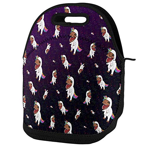 Old Glory T-Rex Wearing Unicorn Costume Rexicorn Pattern Lunch Tote Bag Multi Standard One Size]()