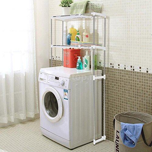Hamptons Combo Unit (Bathroom Cabinet Over the Toilet Storage Rack Space Saver Shelf Organizer White)