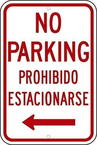 TimSign Legend No Parking Bilingual Funny Yard Decorative Sign Aluminum Metal Sign Plate