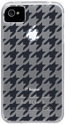 Case-mate CM017122 Gelli Houndstooth Case für Apple iPhone 4/4s transparent