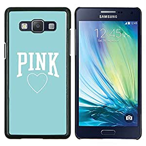 Dragon Case - FOR Samsung Galaxy A5 A5000 A5009 - pink baby blue heart text love clean - Caja protectora de pl??stico duro de la cubierta Dise?¡Ào Slim Fit