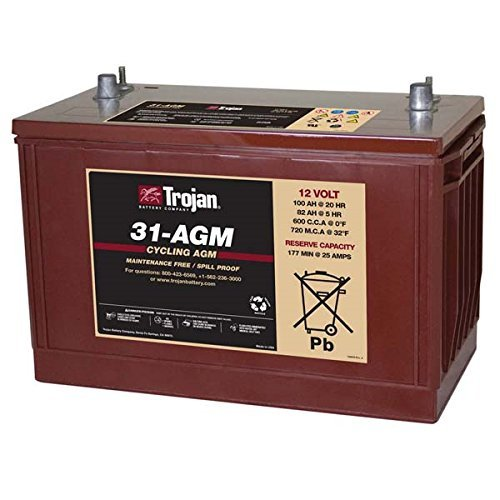 (Trojan T31-AGM 12V 100Ah Group 31 Deep Cycle AGM Battery FAST USA SHIP)