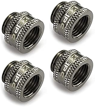 5mm 4-Pack Alphacool G1//4 Male to Male Extender Fitting Chrome