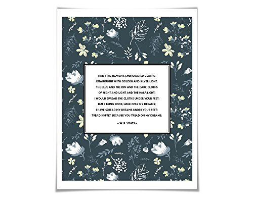 tread-softly-because-you-tread-on-my-dreams-art-print-5-sizes-24-backgrounds-romantic-floral-wb-yeat