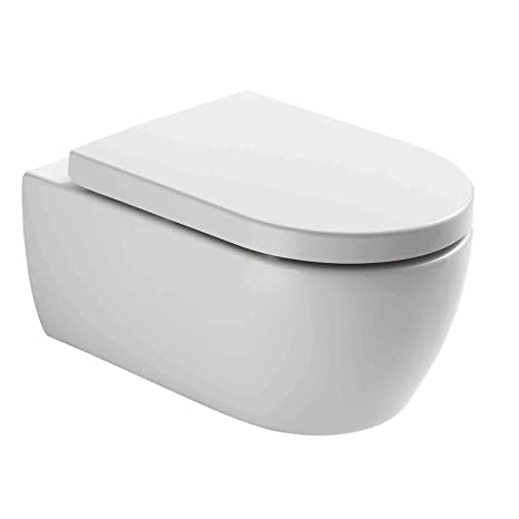 Neg Hänge Wc Uno11rl Tiefspülerrandlos Toilette Ohne Unterspülrand Mit Duroplast Soft Close Deckel Und Nano Beschichtung